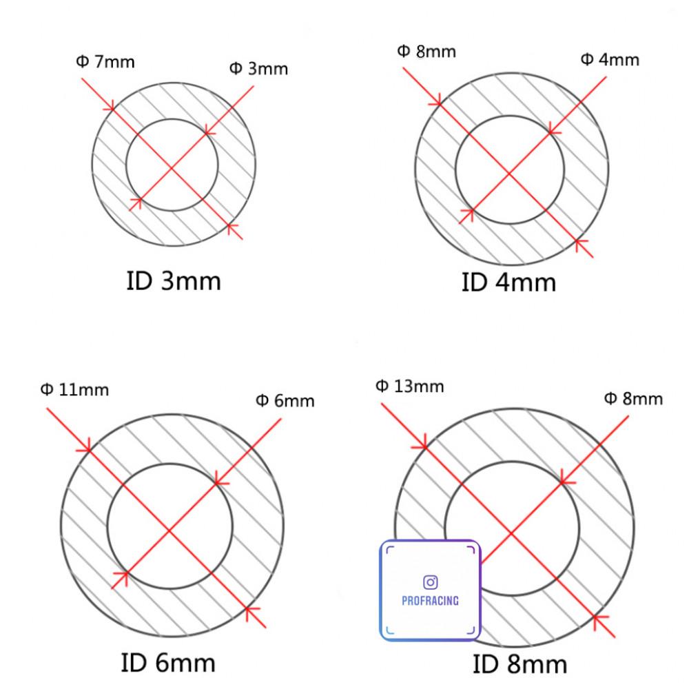 Вакуумный силиконовый шланг 3 мм.