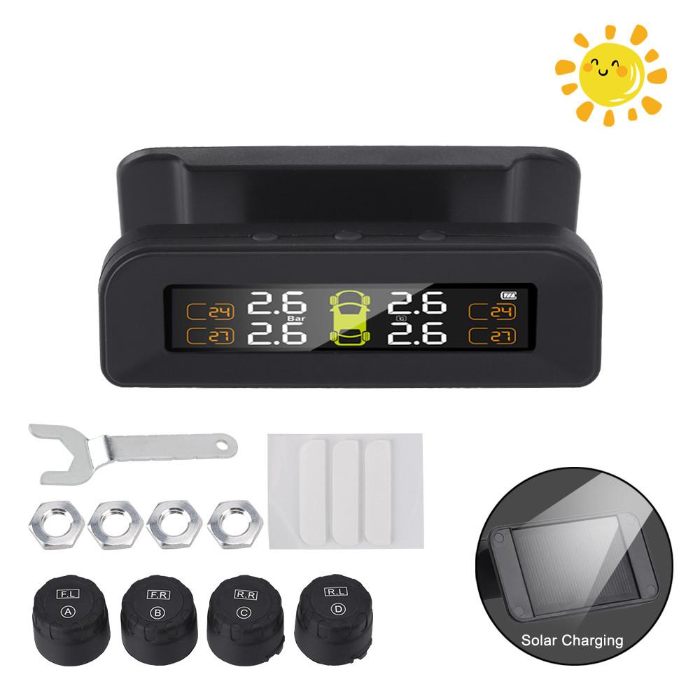 Система контроля давления в шинах с солнечной панелью